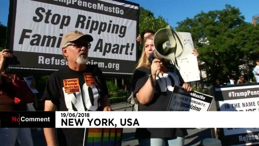 Más protestas contra la ley de separación de familias de Trump