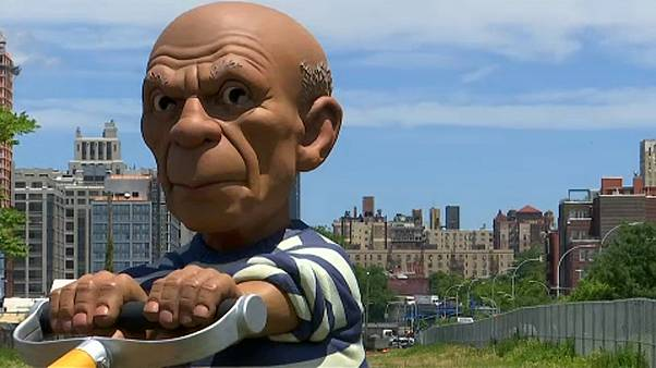 Picasso nyírja a füvet Brooklynban