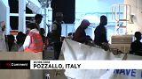 Arrivée de centaines de migrants en Sicile