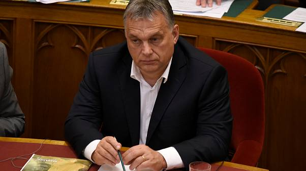Hungarian Prime Minister Viktor Orban before vote on the 'Stop Soros' bills