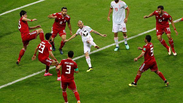 من مباراة إسبانيا وإيران