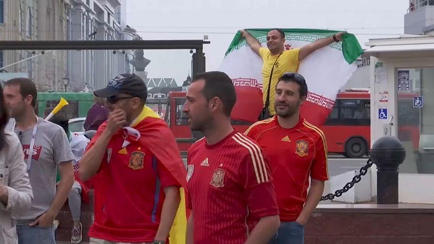 Иранские болельщики на улицах Казани