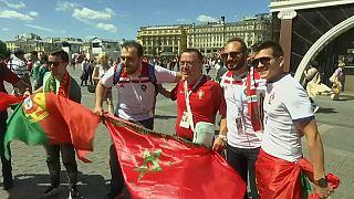 Portugueses em festa depois de vitória contra Marrocos