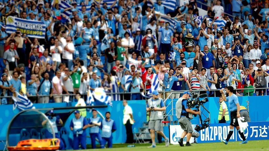 Uruguay, Suudi Arabistan'ı 1-0 yenerek son 16 turuna yükseldi
