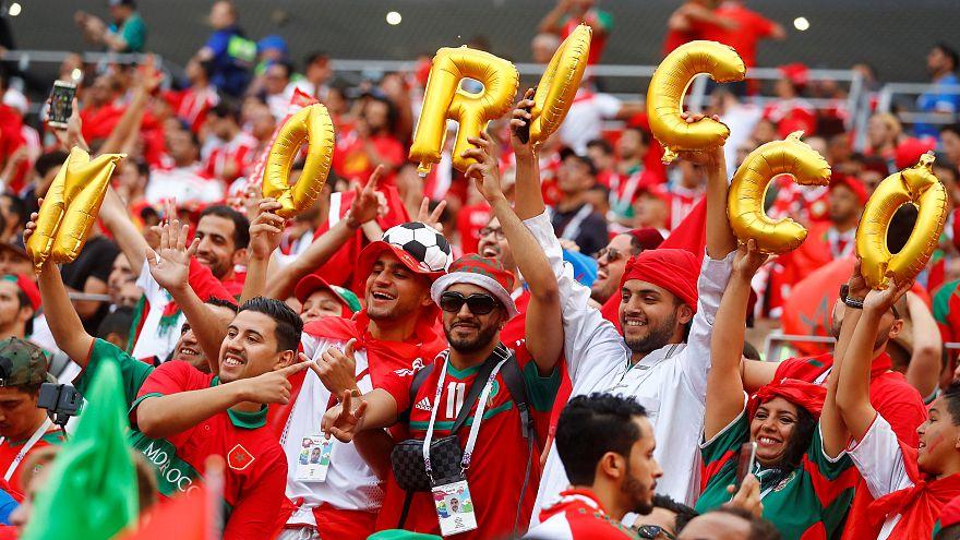 مشجعو المنتخب المغربي