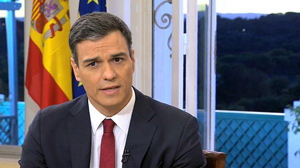 Pedro ´Sánchez en su primera entrevista televisada.