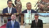 Οι τέσσερις πρωθυπουργοί των χωρών του Βίσεγκραντ