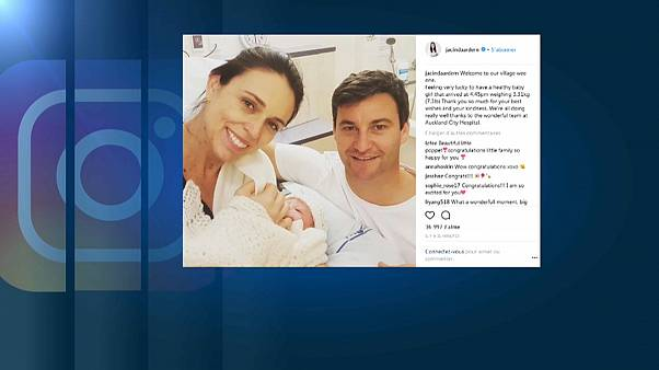 New Zealand's PM broke the news of the birth on social media