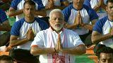 شاهد: رئيس وزراء الهندي يشارك الآلاف الاحتفال باليوم العالمي لليوغا