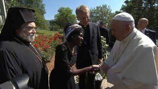 Papst Franziskus beim 70. Jahrestag des ökumenischen Rates der Kirchen