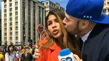 شاهد: تحرش على الهواء مباشرة في مونديال روسيا