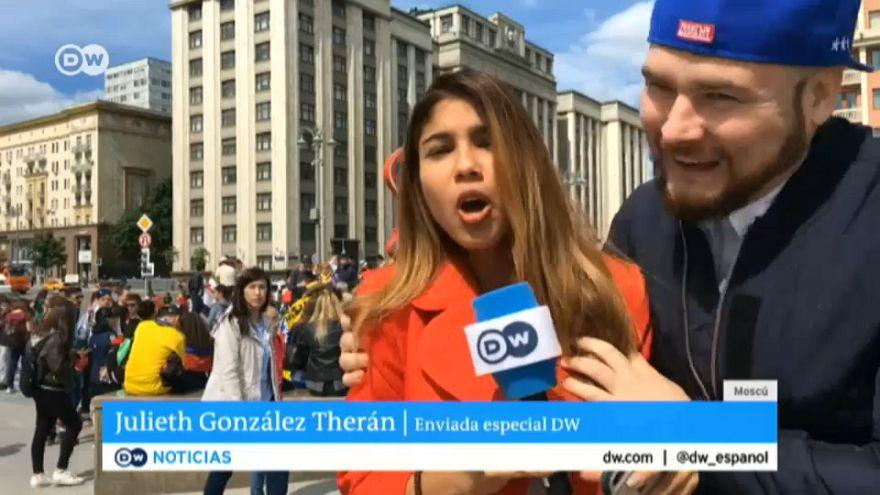 Canlı yayında muhabiri taciz eden taraftar: Niyetim göğsüne dokunmak değildi