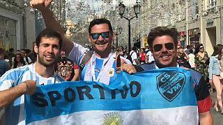 Russia 2018: le strade di Mosca invase dagli argentini