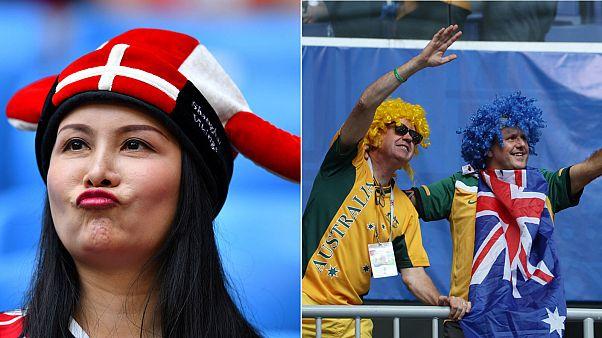 Denmark and Australia slug it out to tie 1-1