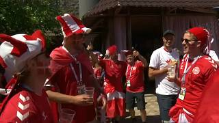 حفلات صاخبة في سمارا الروسية قبل مواجهة الدنمارك وأستراليا
