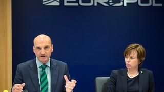 Europol chiefs Manuel Navarrete and Catherine De Bolle discussing terrorism
