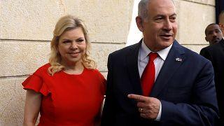 Israeli Prime Minister Benjamin Netanyahu with his wife Sara