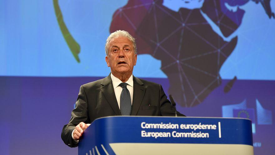Le Commissaire européen chargé de la Migration Dimitris Avramopoulos
