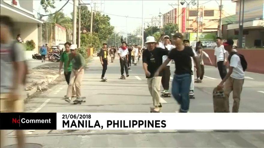 Filipinas celebra en las calles el Día del Monopatín