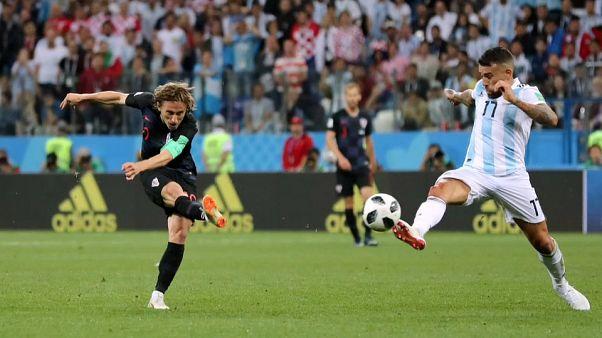 Croacia 'barre del campo' a Argentina en el Mundial de Rusia