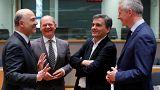 Au milieu, à droite, le ministre de l'économie grec