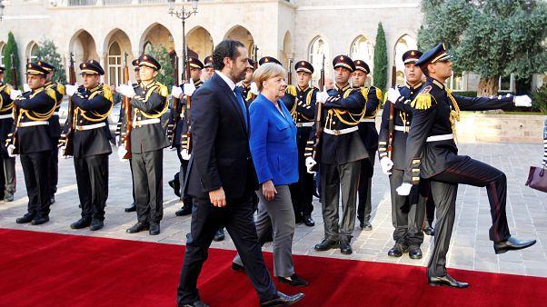 ميركل تبحث في لبنان أزمة اللاجئين والعلاقات الاقتصادية