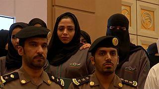 شاهد: أول دفعة لمفتشات حوادث الطرق في السعودية