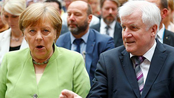 Angela Merkel és Horst Seehofer