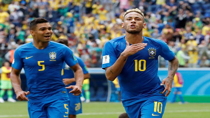 البرازيل يحقق الفوز على كوستاريكا بهدفين نظيفين