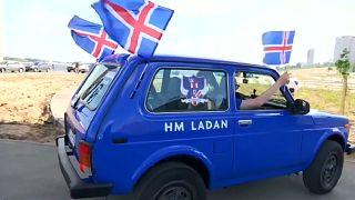Dos islandeses recorren 15.000 kilómetros en un Lada tuneado para llegar al Mundial
