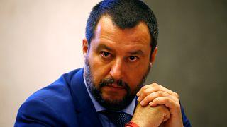 Matteo Salvini, ministre italien de l'Intérieur (chef de la Ligue)