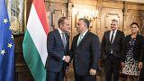 A migrációs politika miatt jött Budapestre az Európai Tanács elnöke