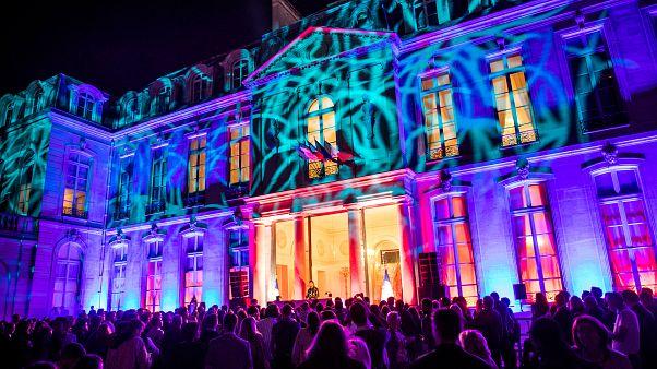 حیاط کاخ الیزه فرانسه تبدیل به سالن رقص شد
