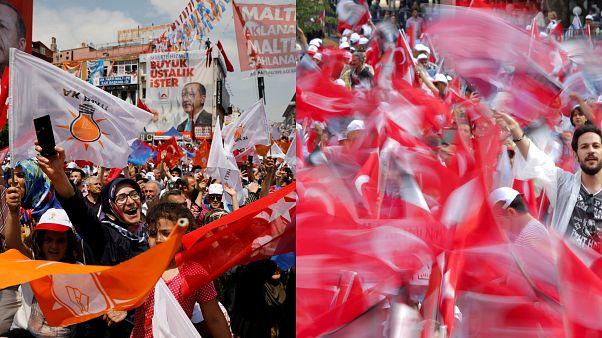Comícios na Turquia mobilizam milhares