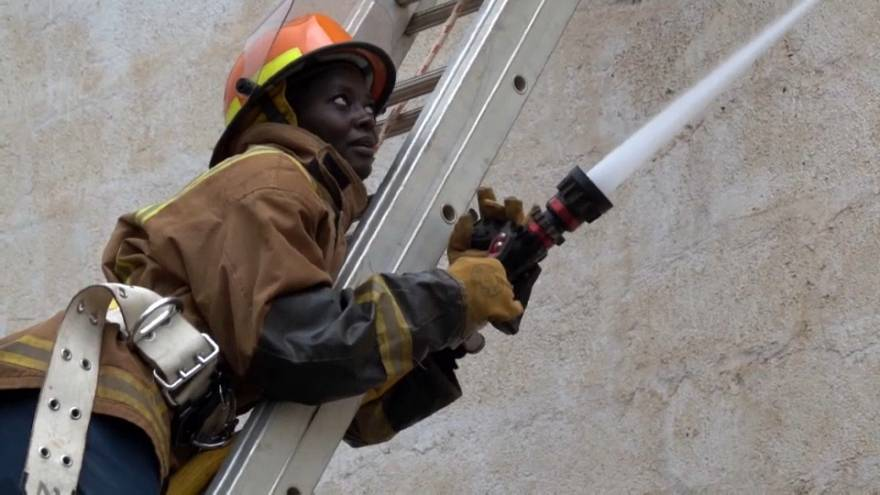Female firefighters are driven by passion for the job in Kenya