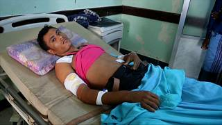 Hospitals in Hodeida are struggling to cope with the number of injured