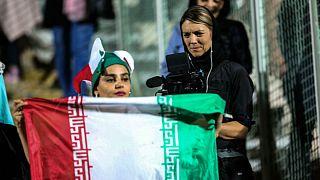 زنان ایرانی در استادیوم آزادی تهران