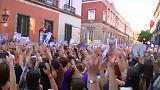 Tüntetés az erőszaktevők elengedése ellen