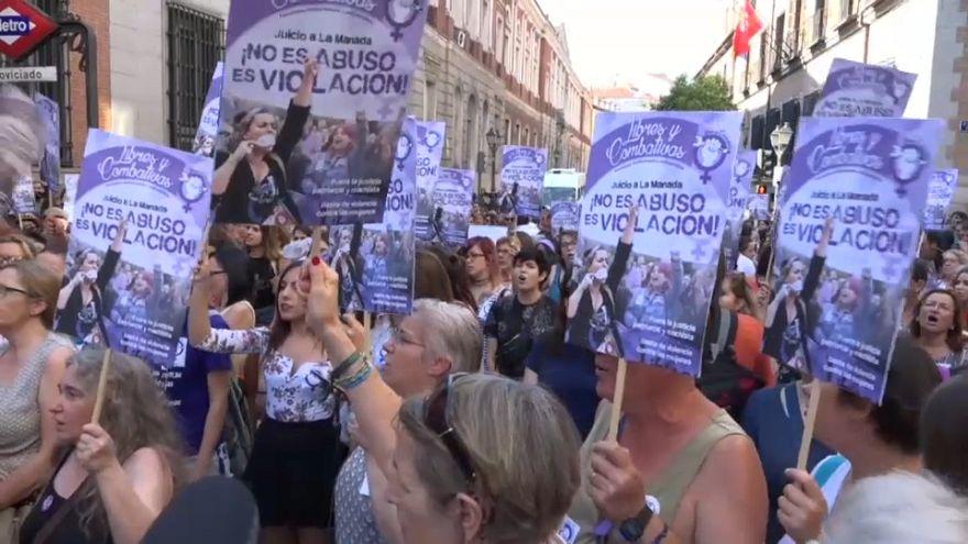 Protestas multitudinarias por la libertad de la 'Manada'