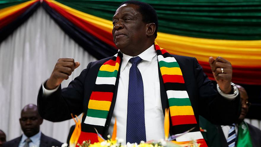 Zimbabwe's president narrowly escapes explosion at party rally