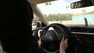 A Saudi Arabian woman driving