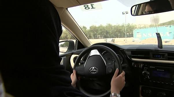 A Saudi Arabian woman driving
