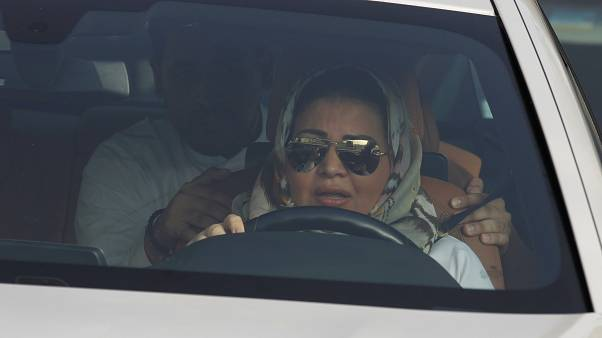 A Saudi woman at the wheel