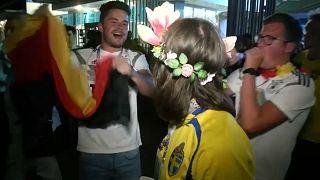 Kroos, chouchou des supporters allemands, après son but victorieux face à la Suède