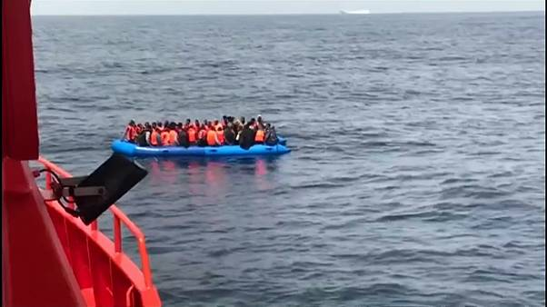 Migrants trying to reach the Spanish coast