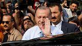 Elezioni Turchia: a metà scrutinio Erdogan è al 56,5% nelle presidenziali, Ince al 28,6%