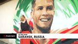 جدارية تجسد رونالدو وتحيي البرتغال بسارانسك (فيديو)