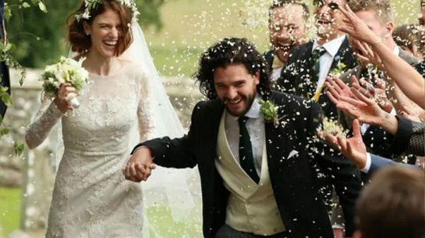"""Los actores de """"Juego de Tronos"""" Kit Harington y Rose Leslie se casan en Escocia"""