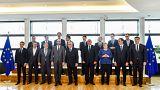 Líderes de la UE posan en Bruselas