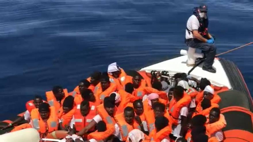 Migrants rescued by the Aquarius